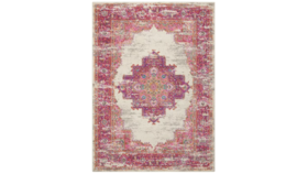 Image of a Aged Area Rug - Pink and Ivory