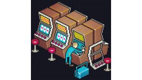 Image of a Virtual Casino Slot Machines (Bank of 5)