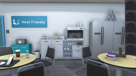 "Image of a Digital Online Escape Room ""Break Room Themed"""