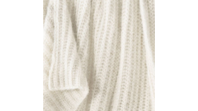 Image of a Beige Knit Throw Blanket