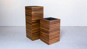 Image of a Planter Set, Natural Wood