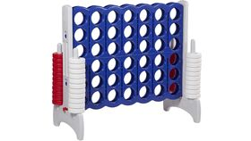 Image of a Giant Connect Four - Navy Blue and Gray