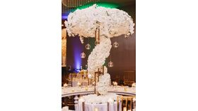 Image of a Floral Wrap Around Tree Centerpiece
