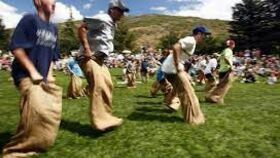 Image of a Sack Race