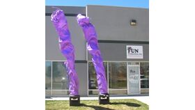 Image of a Fly Flames - 16' Purple
