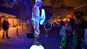 Image of a Black Light Entertainers