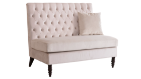 Image of a Beige Tufted Settee