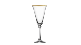 Image of a Z CLEARANCE Glassware-Charlotte Gold Rim Wine Drinkware- qty 166 available