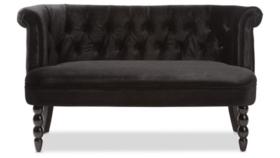 Image of a Lounge-Black Velvet Settee