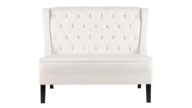 Image of a Lounge-Off White Linen Settee