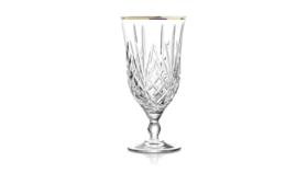 Image of a Glassware-Rachel Gold Rim Cut Crystal Water/All Purpose Drinkware