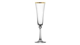 Image of a Glassware-Charlotte Gold Rim Champagne Drinkware