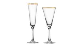 Image of a Glassware-Charlotte Gold Rim Wine Drinkware