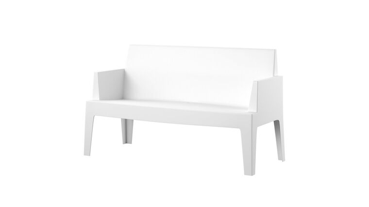 Picture of a Z Sell CLEARANCE Settee White Modern Outdoor- 3 available