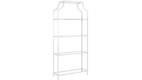Image of a Accents-White Etagere/Bar Back Shelving