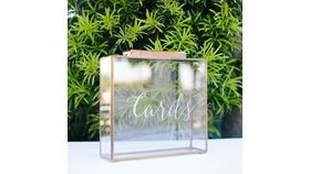Image of a Glass & Gold Card Box