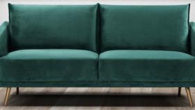 Image of a Lounge-Emerald Green Velvet Sofa