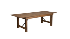 Image of a 8ft Farm Table Folding