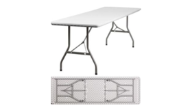 Image of a 6ft Plastic Table Folding
