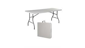 Image of a 6ft Plastic Table Folding - center fold