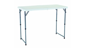 Image of a 4ft Plastic Table Folding - center fold