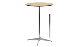 """Image of a Cocktail Wood Table Round - Height 30"""" or 42"""""""