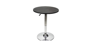 "Image of a Bar Wood Table Round w/hydraulic Base Height 25.5"" - 35.8"""