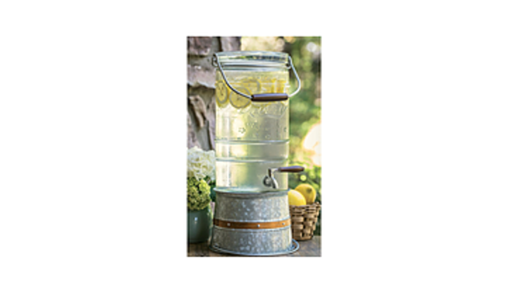 Picture of a Mason Glass Jar beverage Dispenser (2.5 gallon)