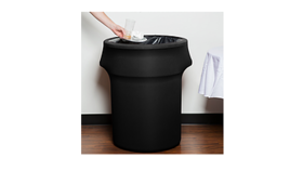 Image of a Trash Can 32 gallon, Spandex Cover - black