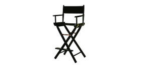 """Image of a Director's/Make-up Chair Black, 23""""W x 45.5""""H x 19"""" D"""