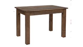 "Image of a 5 FT FARM TABLE, wood, rustic pine D 38"" x H 30"""