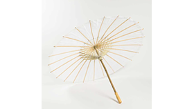"Image of a 32"" Paper Parasol, white"