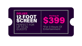 Image of a 12 Foot Deluxe Backyard Movie Package