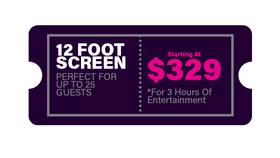 Image of a 12 Foot Backyard Movie Package