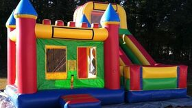 Image of a 16ft Slide & Bounce House Combo