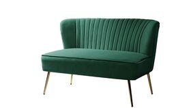 Image of a Emerald Green Velvet Settee