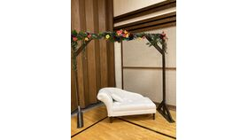 Image of a White Love Seat