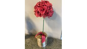 Image of a Red Rose Topiary