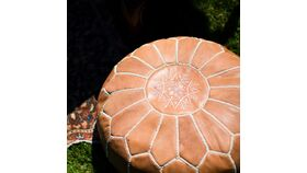 Image of a Ryan Leather Pouf