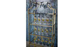 Image of a Gold Glass Shelf