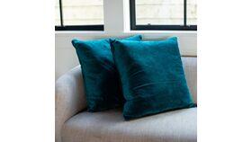 Image of a Aqua Velvet Pillow