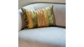 Image of a Beaded Silk Pillow