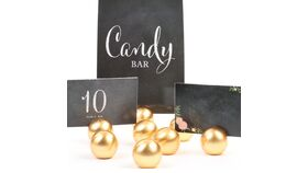 Image of a Gold Ball Place-card Holders