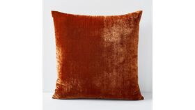 Image of a Crushed Velvet Copper Pillow
