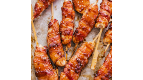 Image of a Bacon Wrapped Chicken Skewers