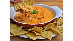 Image of a Buffalo Chicken Dip With Tortilla Chips