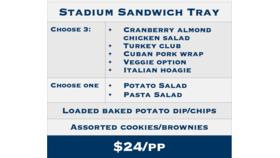 Image of a ND Stadium Sandwich Tray