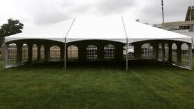 Image of a 30' x 45' Frame Tent Hip Ends