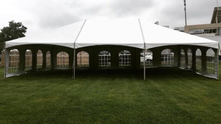 Picture of a 30' x 45' Frame Tent Hip Ends