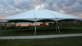 Image of a 30' x 40' Frame Tent Hip Ends